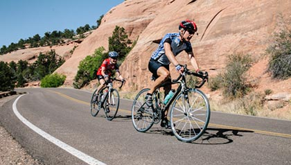 AARP Great Places to Retire 2012- cyclists in Grand Junction, Colorado