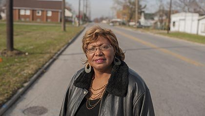 Brenda McAtee works to incorporate Prospect St. which has no pedestrian access into the Complete Streets program in Indianapolis