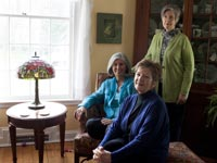 Karen Bush, Jean McQuillin and Louise Machinist in their shared Pittsburgh home.