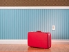 Packed red suitcase. Life and leisure. (Istockphoto)