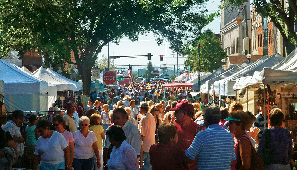 A street fair, Livable Neighborhoods Bismark, North Dakota
