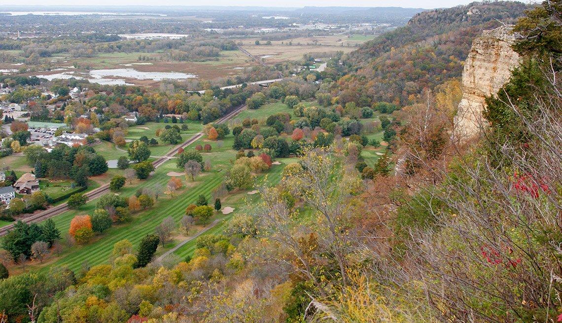 Mississippi River Granddad Bluff Park view, Livable Neighborhoods La Crosse, Wisconsin