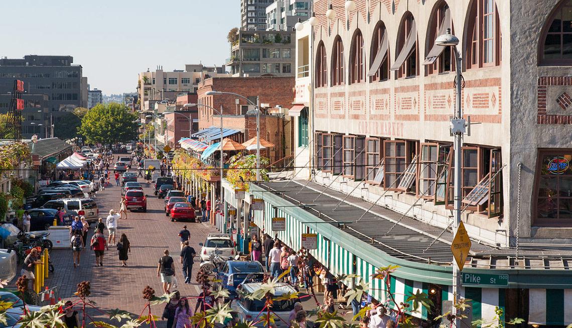 Vecindarios en donde vivir mejor en Estados Unidos - Pike Place Market, Seattle