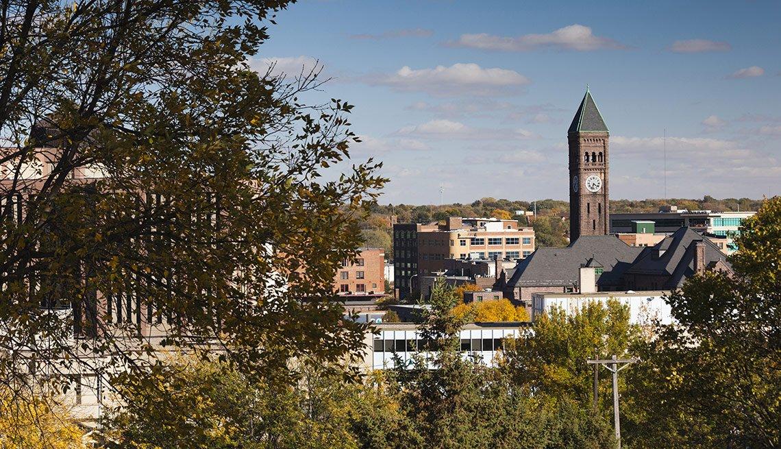 Vecindarios en donde vivir mejor en Estados Unidos - Skyline of Sioux Falls, South Dakota