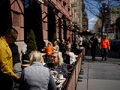 Two women eating in a cafe, livable neighborhoods, Upper West Side, Manhattan