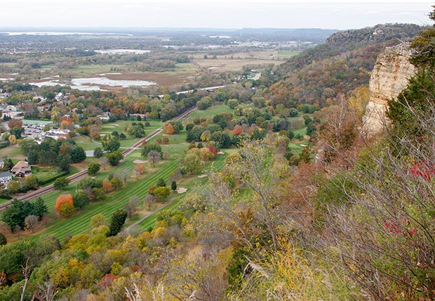 Mississippi River Granddad Bluff Park view, Livable Neighborhoods La Crosse, Wisconsin