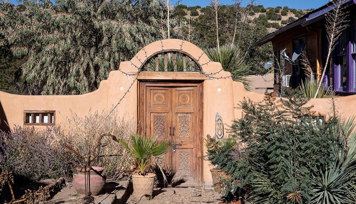 An old adobe gate in Madrid, N.M.