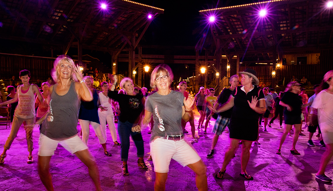 The retirement community, The Villages in Florida, has a perpetual party feel.