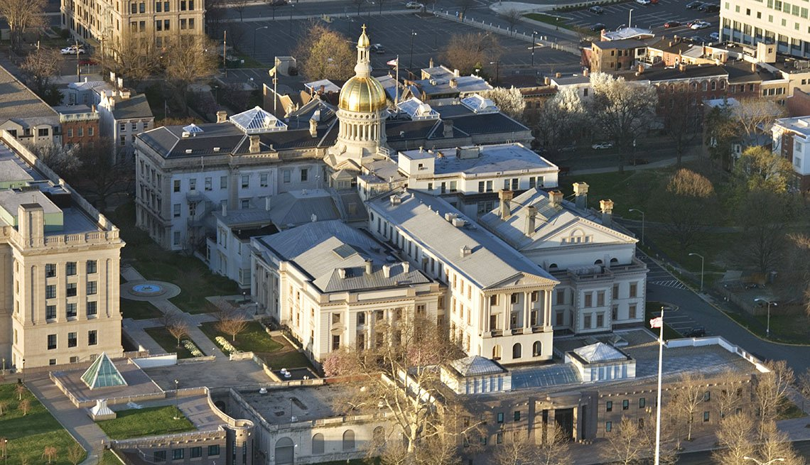 Aerial View Of Trenton New Jersey, US Cities Rich In Hispanic Culture