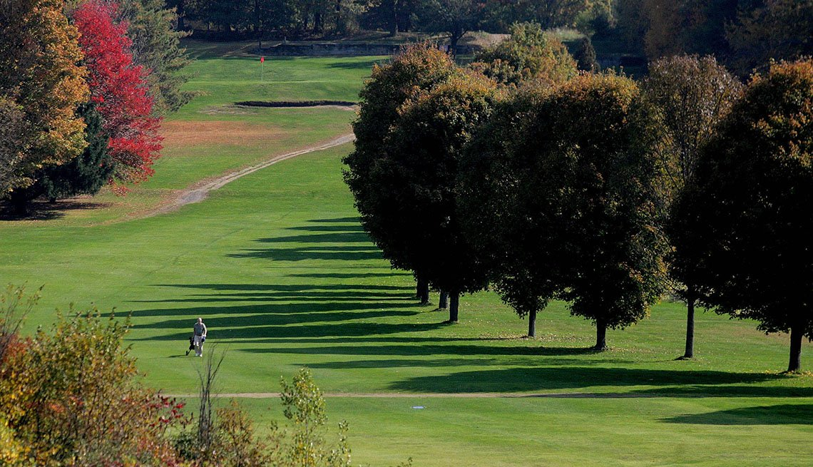 A golf course in Massachusetts.