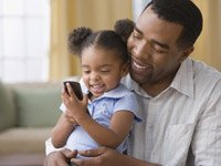 father daughter cell phone