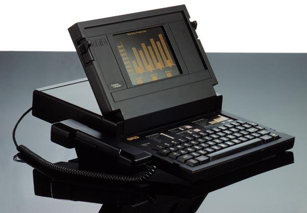 El ordenador Compass para sistemas de redes diseñado por Bill Moggridge.