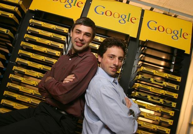 Fundadores de Google Larry Page y Sergey Brin.