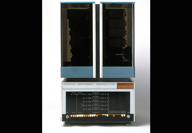 The PDP-8, or Straight-8, minicomputer was manufactured by the Digital Equipment Corporation (DEC), United States. It was the first minicomputer.
