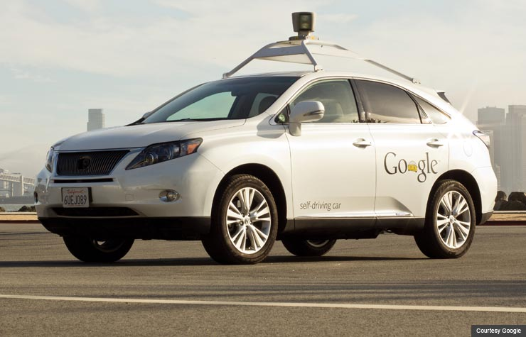 Google Lexus self-driving car, Innovation@50+ Hear Me See Me Google (Courtesy Google)