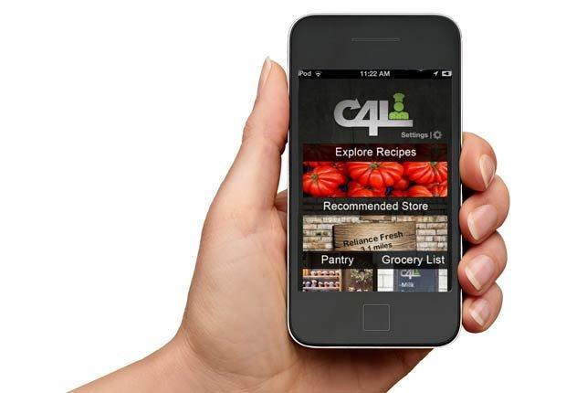 iPhone con la aplicación cook4lyfe en su pantalla, Gadgets para la cocina