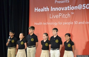 Lego League LivePitch at Health Innovation@50+ Tech Expo during Life@50+ Las Vegas (Photo by Chris Sherman)