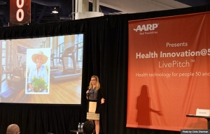 Wello LivePitch at Health Innovation@50+ Tech Expo during Life@50+ Las Vegas (Photo by Chris Sherman)