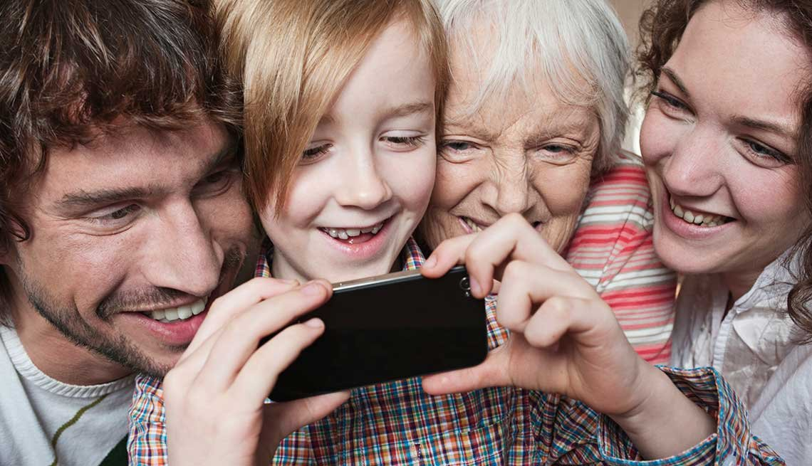 Three generation family with boy having fun with smart phone, Five Things You Should Know About Social Media