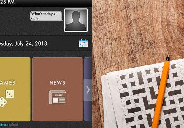 Captura de pantalla de la aplicación Clevermind - Crucigrama con un lápiz.