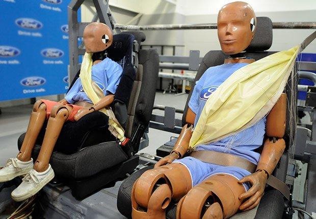 Última tecnología para automóviles: Cinturón de seguridad inflable