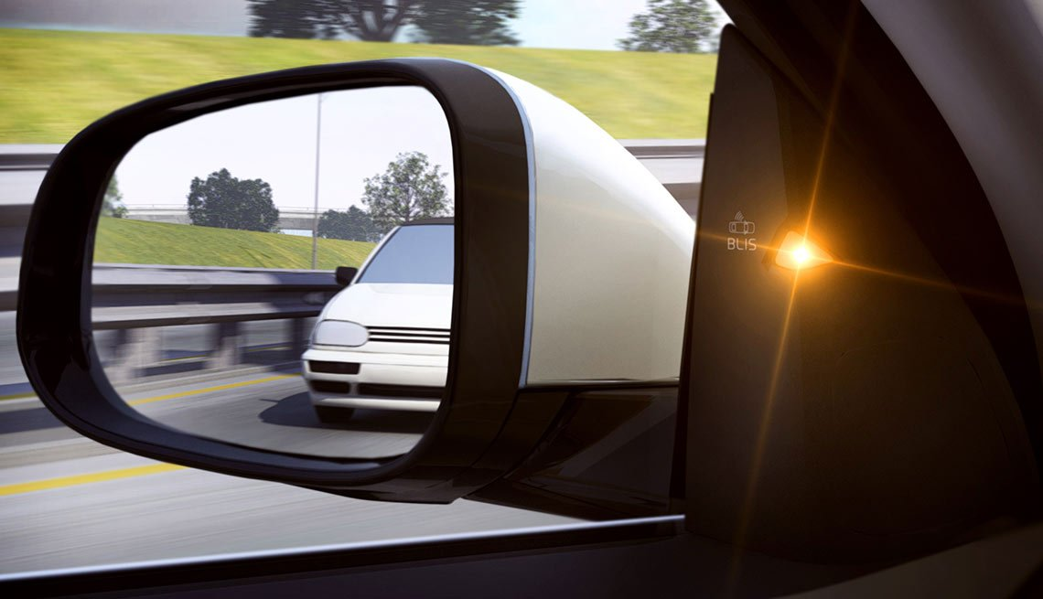 Latest high tech car features - Blind-Spot Monitoring and Cross-Traffic Alert