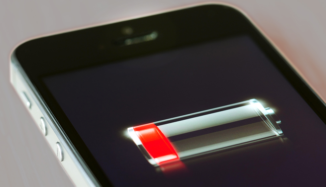 Apple iPhone battery indicator