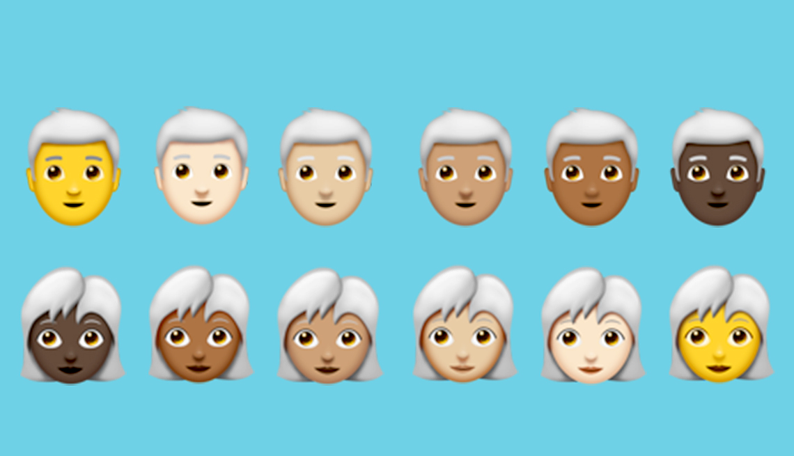 Newest Emojis Include Grey Haired Options