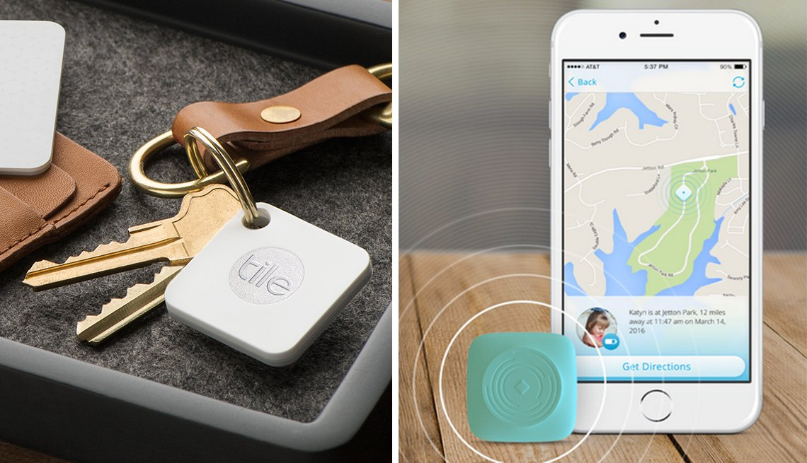 tracking devices tile and Ping GPS