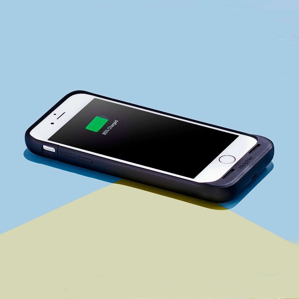 A charging device that snaps on to the back of a cell phone