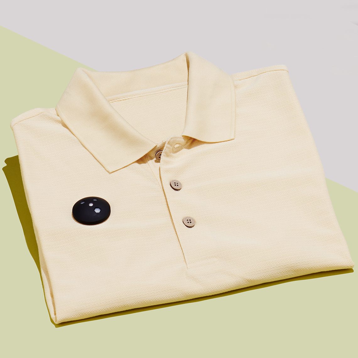 A shirt with a UV monitor on the front