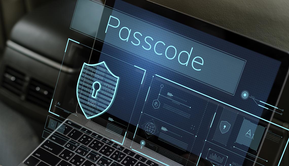 Pantalla de computador requiere la clave de acceso
