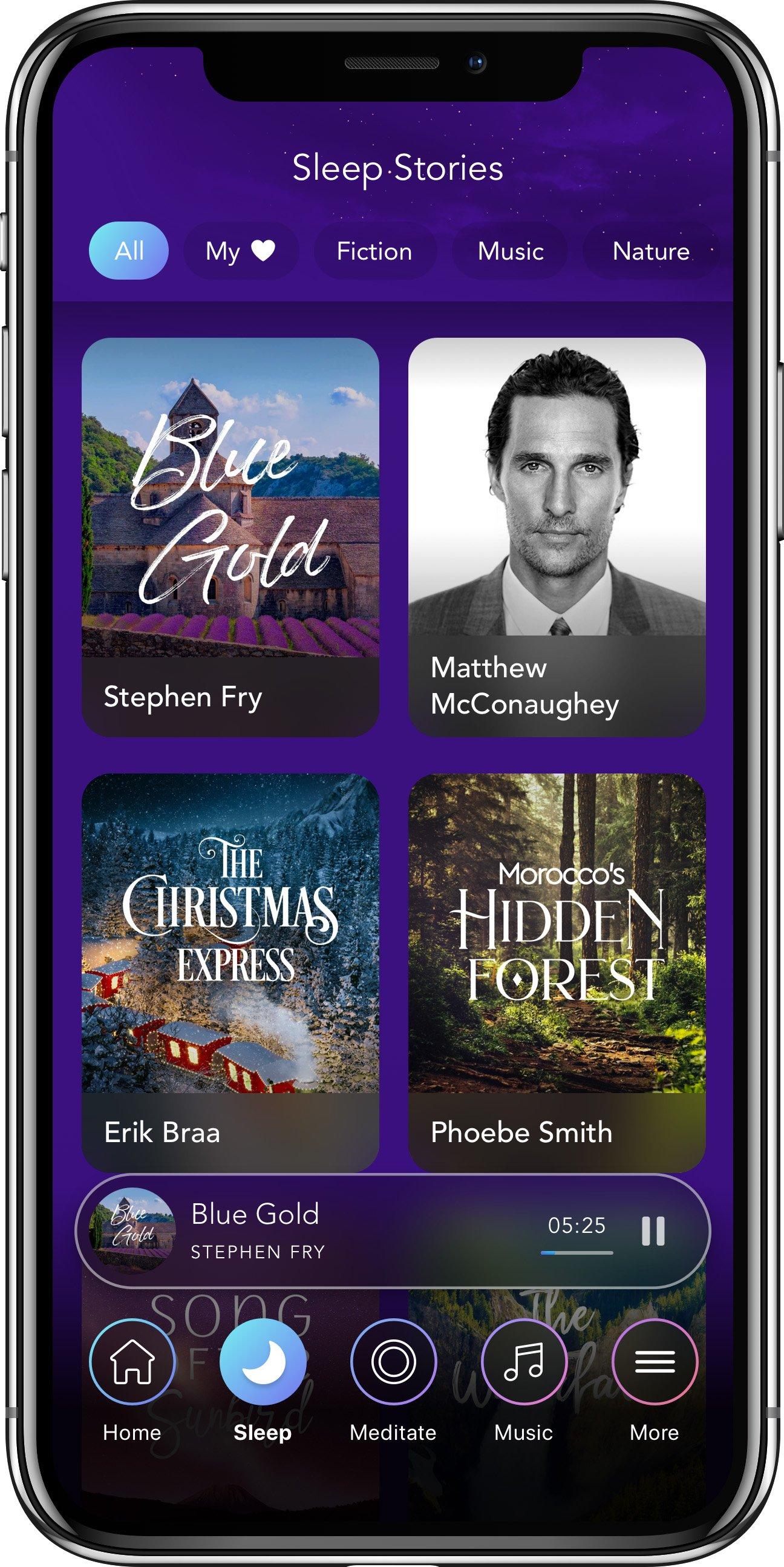 Captura de pantalla de una aplicación en un i-Phone X