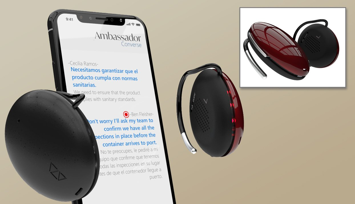 Ambassador - a wearable language translators