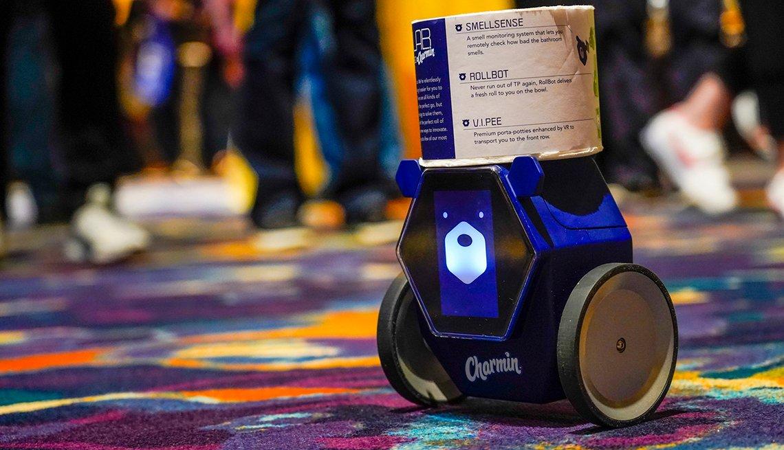 RollBot, un robot que lleva el papel higiénico