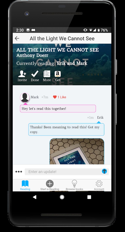 Imagen de la aplicación Bookish