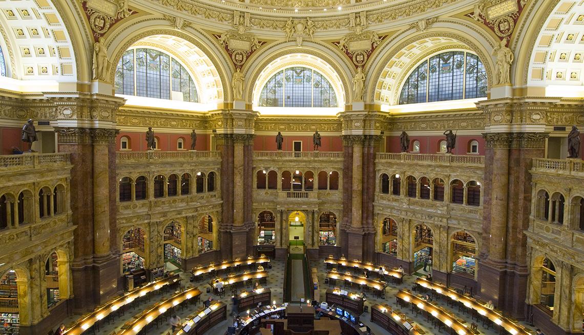Sala de lectura principal del edificio Thomas Jefferson de la Biblioteca del Congreso