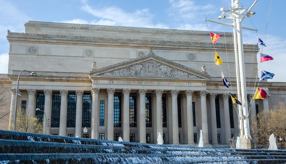 Edificio del Archivo Nacional en Washington DC