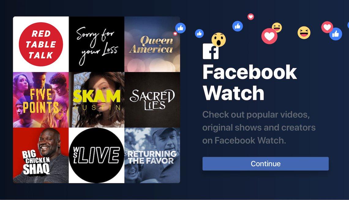 Imagen de la aplicación Facebook Watch
