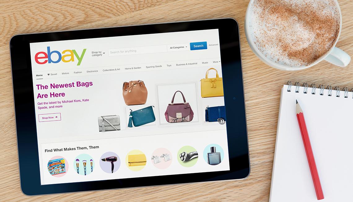 eBay on Tablet device