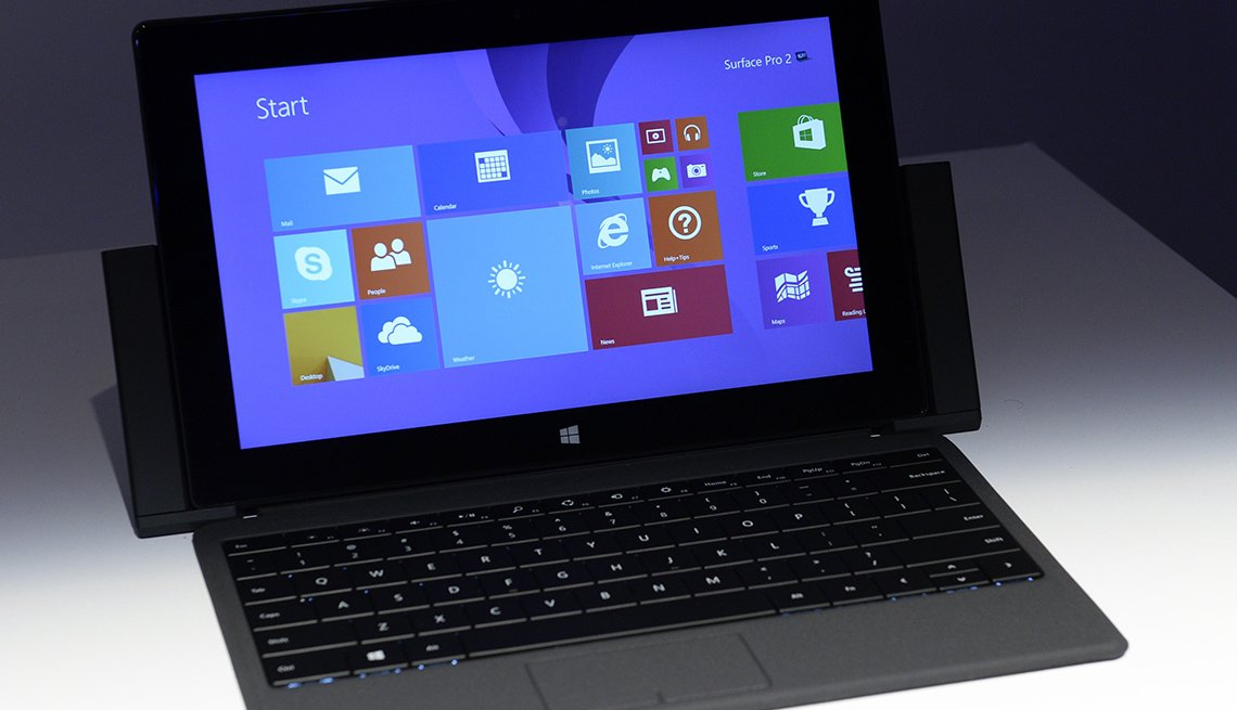 The Microsoft Surface pro 2 is seen during a news conferece