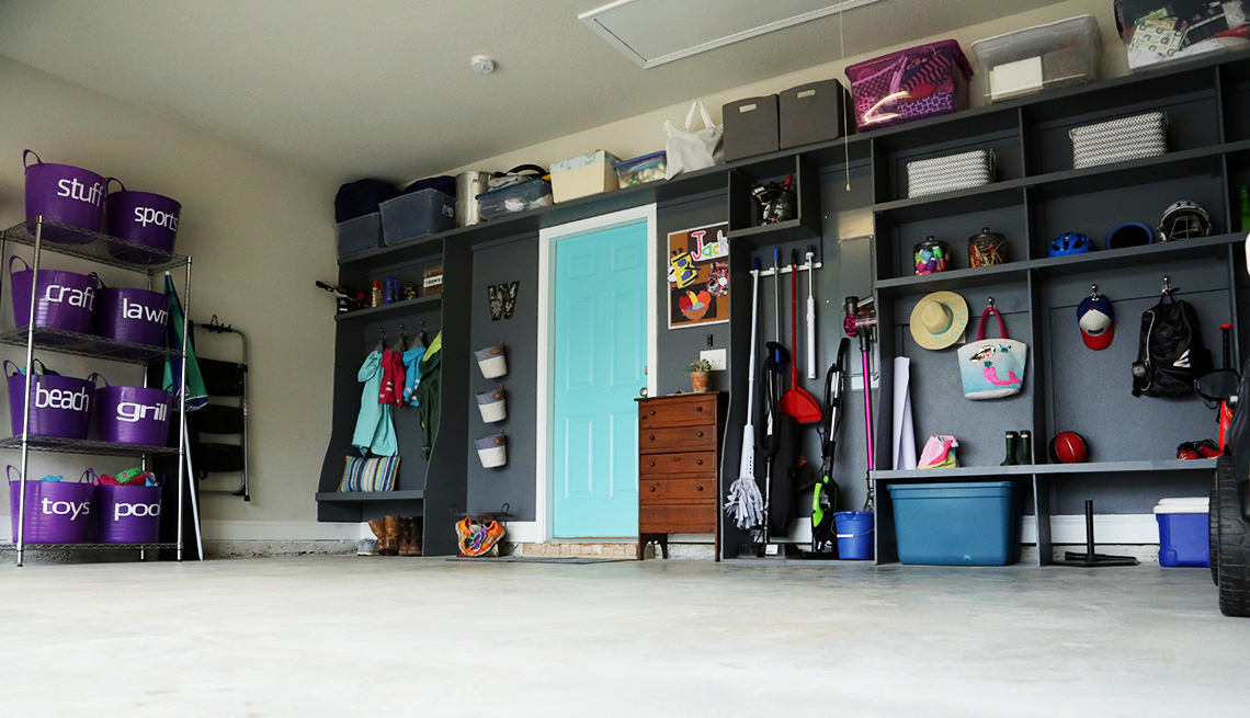 An organized and neat garage