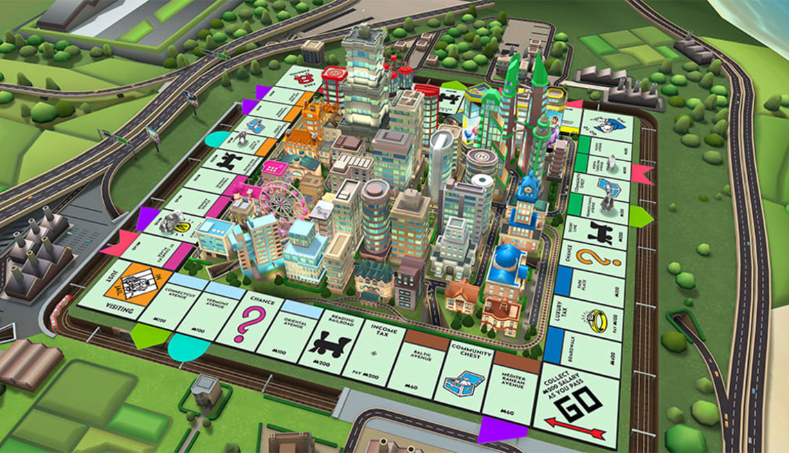 Screenshot of Monopoly online game