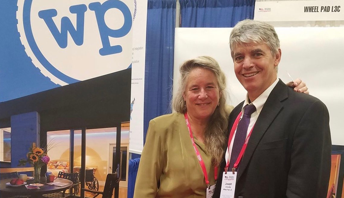 Wheel Pad Founders Julie Lineberger, President, Joseph Cincotta, Architect