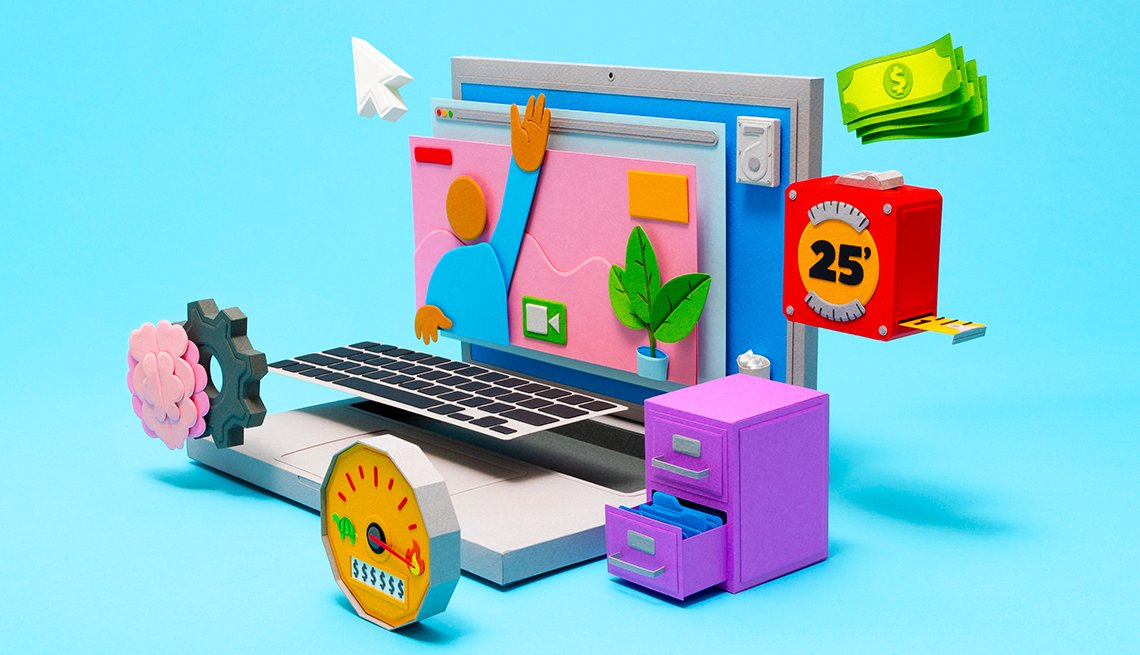 Gráfica muestra las características de una computadora