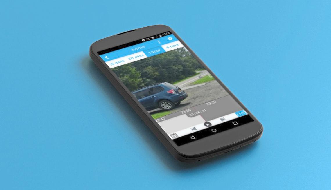 item 6 of Gallery image - Teléfono móvil muestra imágenes de la cámara de seguridad de la casa