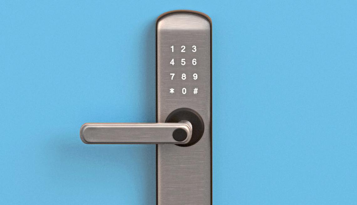 item 5 of Gallery image - smart door lock with numbered keypad