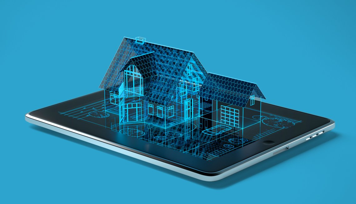 item 7 of Gallery image - Tableta muestra en 3D un sistema de seguridad inteligente para el hogar