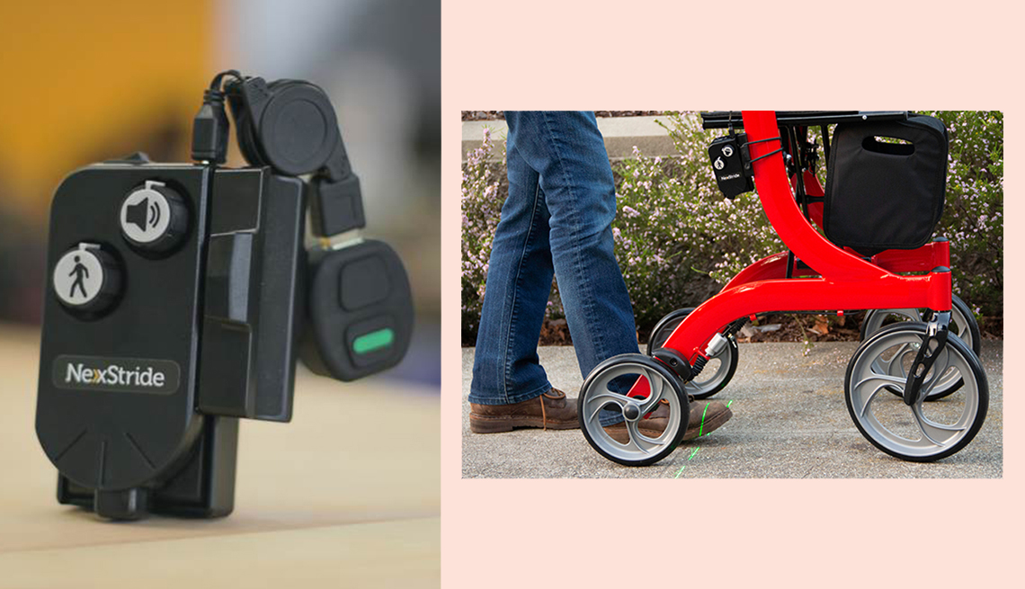item 5 of Gallery image - product shots of the de oro next stride attachment for walkers and canes