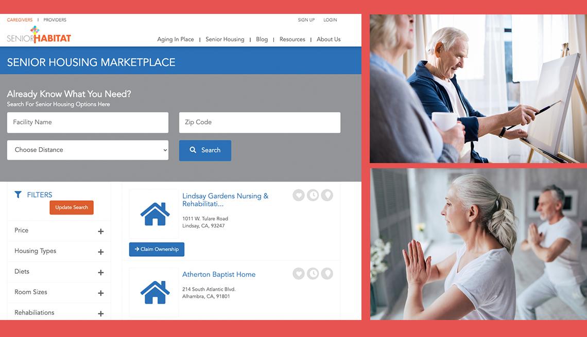item 7 of Gallery image - screenshot of the senior habitat website which helps seniors find housing